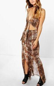 Boohoo snake skin maxi dress